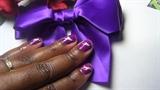 Nail Art: Purple & White