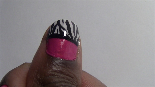Colorful Pink and Zebra Print Nails