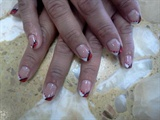 Gelish Red, White and Black