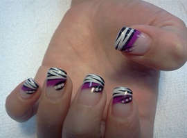 nail art: Purple Zebra 2
