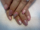 Pink and silver shellac