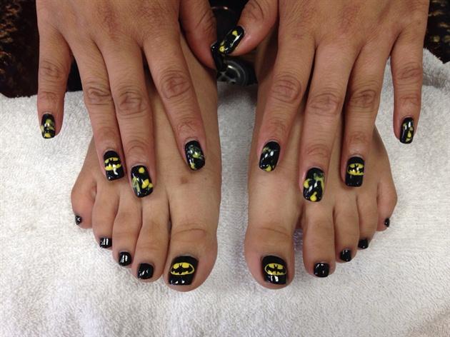 Batman Prom Nails