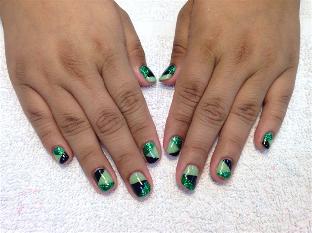 Green Colour Blocking