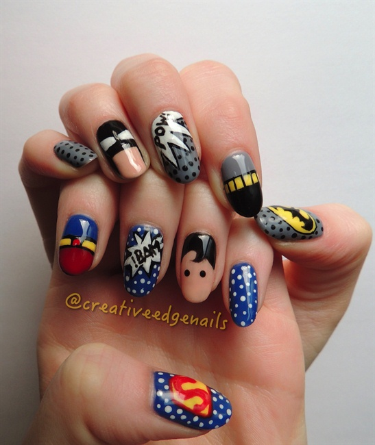 Batman Vs. Superman 2 - Nail Art Gallery