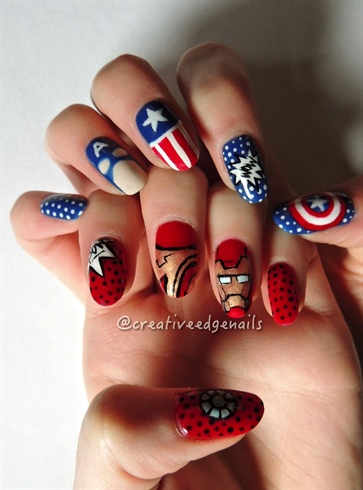 Superhero battle 2 civil war nail art gallery superhero battle 2 civil war prinsesfo Gallery