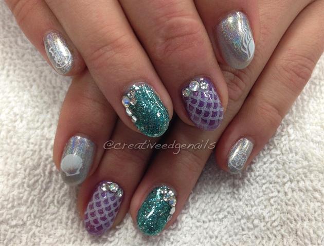 Mermaid New Years Nails