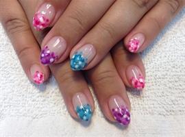 nail art: Polka Dot French