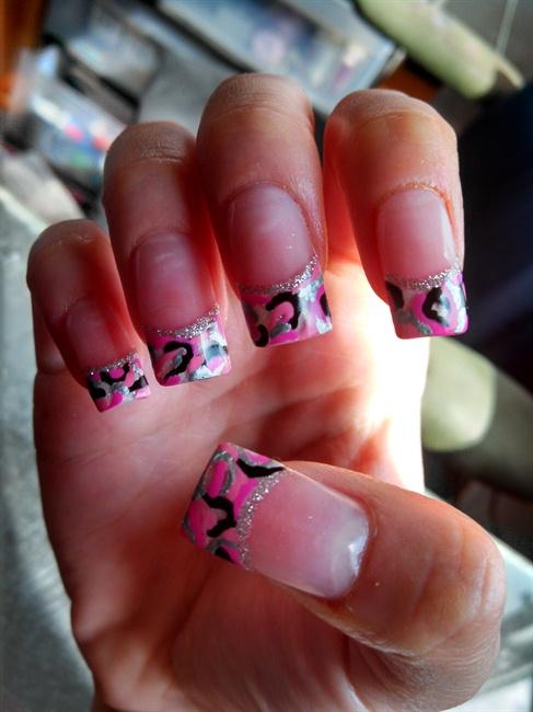 Pink Camo Nail Art Gallery