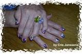 Vitral nail art