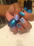 Turquoise Blue Light blue Dots Butterfly