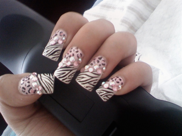 pink leopard n zebra