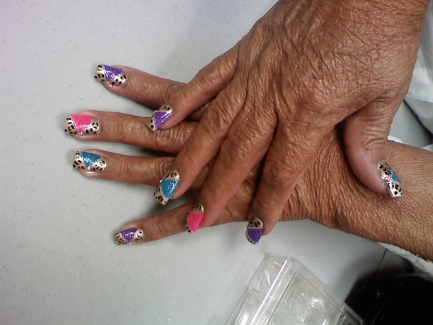 colorful/leopard