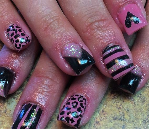 Pink & Black Cheetah Stripes & Love