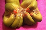 My Lil Girls Vday Nails