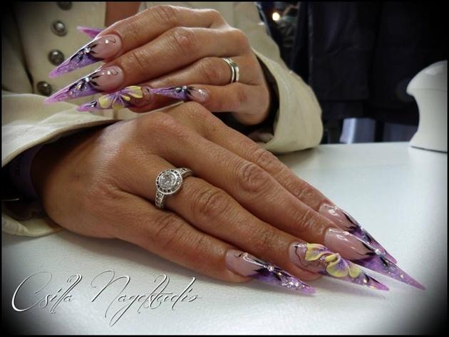 Purple stiletto