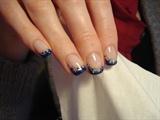 Blue & silver short
