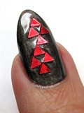 Red Glitter Accent Nail