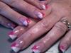 Hot Pink/White