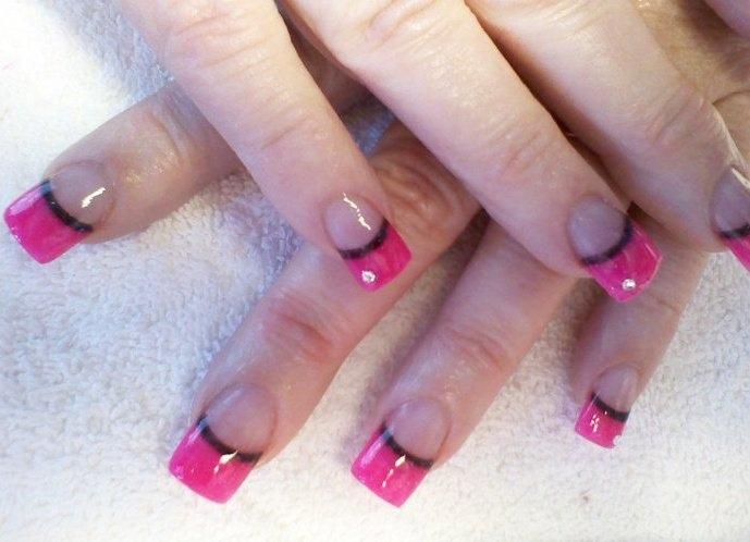 30 Cute Acrylic Nail Designs Pink And Black Acrylic Nail Designs