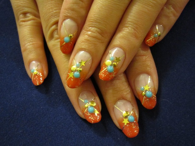 Orange Summer Nails