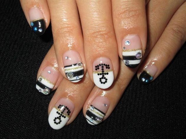 Marine style mix Nails