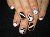 black&white Nails
