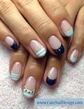 Blue summer Nails