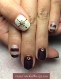 brown summer nails