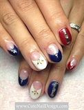 The US theme nails