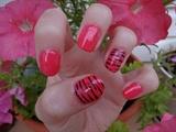 Pink with zebra