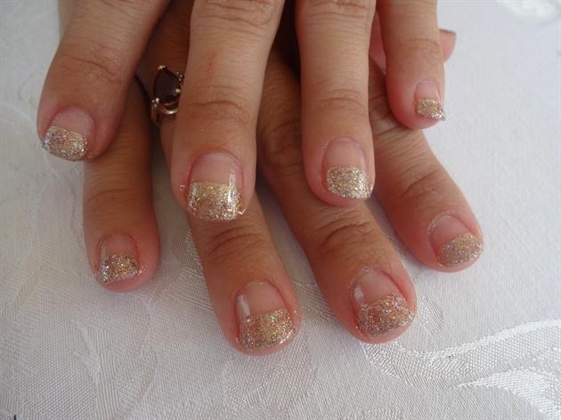 Glod Glitter French Tips