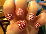cute valentines day poka dots