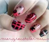 1st newbie nail art. (: