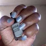 Ombre Gray Blue Glitters