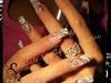 Nail art zebre