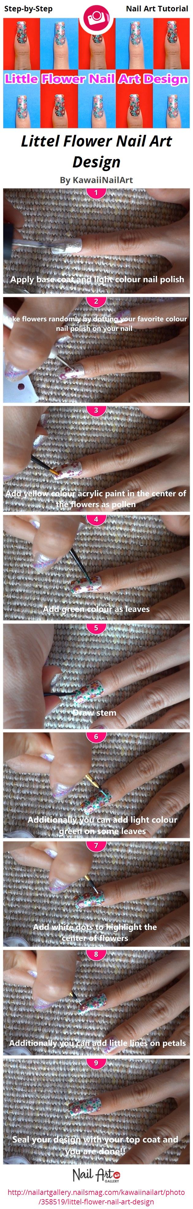 Littel Flower Nail Art Design - Nail Art Gallery