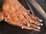 gold floral 2 hands