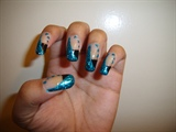 Black and teal french