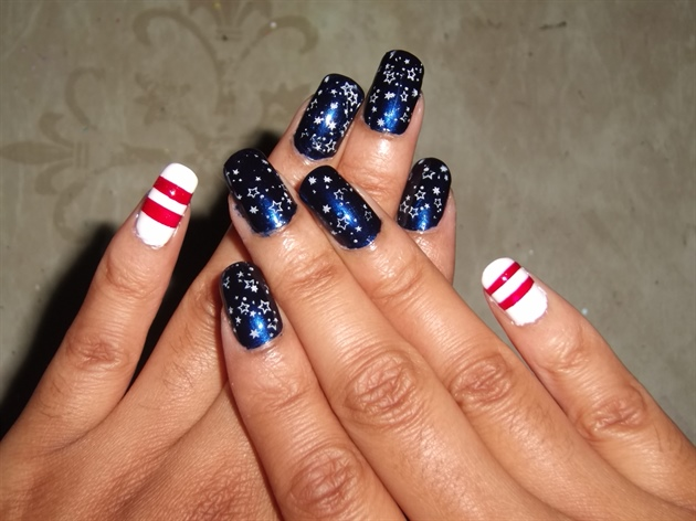 Patriotic Nail Art 2