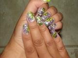 Tri-color floral