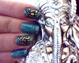 Bollywood nail art !