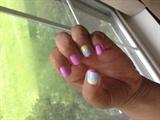 Spring ombré nail design