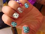 Crazy party polka dot nails