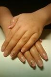 Konad nail art on french