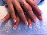 White gel nails