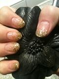 Gold fadet glitter