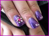 Natural Nail Purple Mani