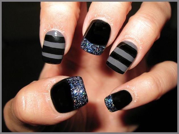 Black & Grey Mani
