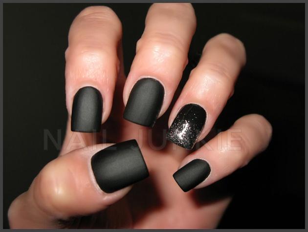 Matte black glitter fade nail art gallery matte black amp glitter fade prinsesfo Image collections