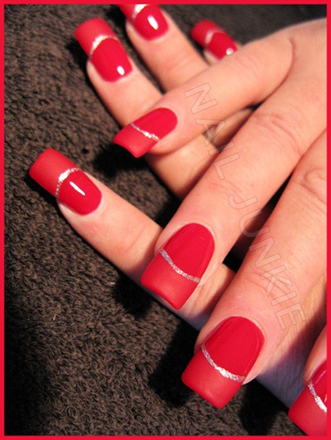 Red, with matte tips